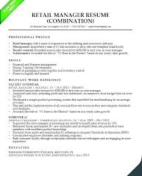 Resume Summary Examples For Retail Manager Store Best Of Related Post