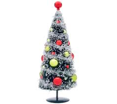 Fiber Optic Christmas Tree 6 by Set Of 3 Bottlebrush Trees With Ornaments By Valerie Page 1
