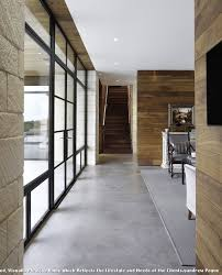 100 Contemporary Wood Paneling Gray Area Rug With Hall And Concrete Brick Wall