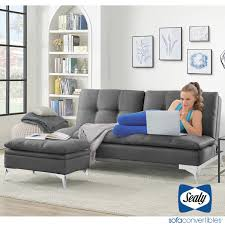 Sealy Grey Fabric Convertible Eurolounger With Storage Ottoman | Costco UK Sealy Sofa Convertibles Brooklyn Chaise Lounge Wayfair Save On Convertible Sofas This Fall Sleeper Sofa Fresh Design Harriet 20 Black Twin Xl Ease Adjustable Base 62488931 The Bisonoffice Riley Dropback By Rakutencom Genoa Wool 1400 Mattress Montreal Karen Sealys Absolute Features When Planning A Home Mathis Sleep Center Posturepedic Camus Queen Set