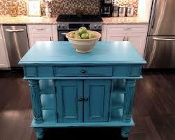 Blue Kitchen Cart