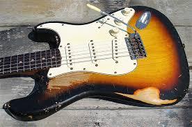 John Frusciante Fender Stratocaster Strat Worn Beat Up Sunburst Relic Guitar