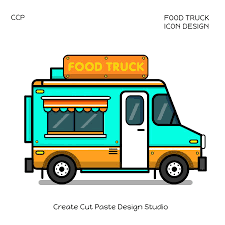 Icon Design Series Of Food Trucks From Different Parts Of The World ...