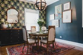 This Is My Dining Room As Youve Seen Before On Blog You Get An Eclectic Feel Here From The Mix Of Bold Patterns Wallpaper And Rug