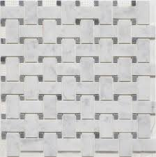 basket weave bianco carrara bardiglio dot polished