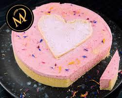 philadelphia himbeer torte zum valentinstag