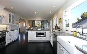 White Kitchen Cabinets With Dark Floors And