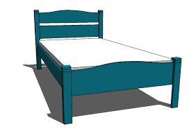 Free Woodworking Plans For Twin Bed by Ana White Pioneer Bed Twin Diy Projects