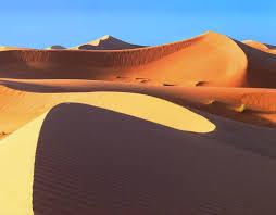Sculpted Sand Dunes Of The Sahara Desert