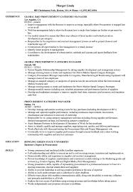 Download Procurement Category Manager Resume Sample As Image File