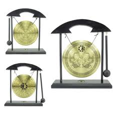 Details About Zen Art Brass Feng Shui Desktop Gong Home Decor Zen Art FOR Fortune 3 Style