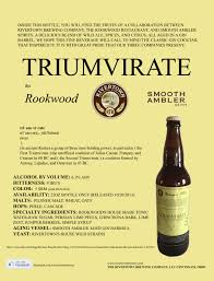Rivertown Pumpkin Ale by Triumvirate Sell Sheet Rivertown Brewery And Barrel House