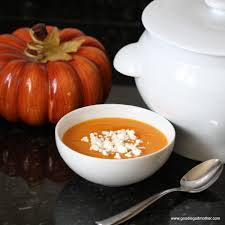 Spicy Pumpkin Butternut Squash Soup by Roasted Butternut Squash Pumpkin Saffron Soup Goodie Godmother