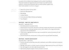 Sample Waitress Resume Waiter