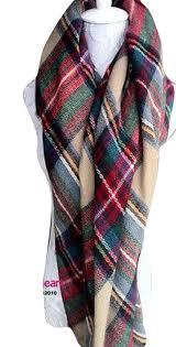 fengbay lady large tartan scarf shawl stole plaid checked pashmina
