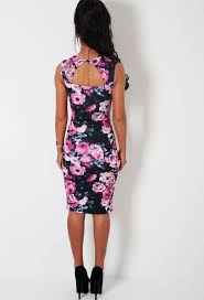 romelia white and red floral bodycon midi dress shops in love