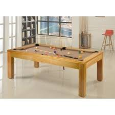 The Precision 7ft Solid Oak Slate Bed Pool Dining Table SALE