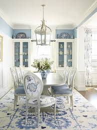 Beach Style Dining Room In Classy Blue And White Design Austin Patterson Disston Architects