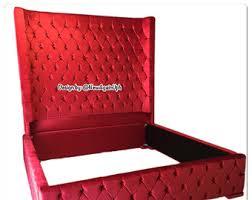 Velvet Headboard King Bed by Extra Tall Headboard Etsy