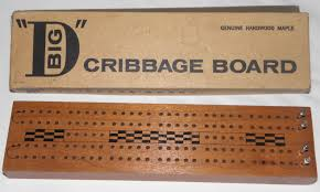 Big D Cribbage Board By The Are Jay Company