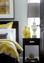 Atmosphere Interior Design Gorgeous Gray Yellow Contemporary Bedroom With Walls Paint Color Espresso