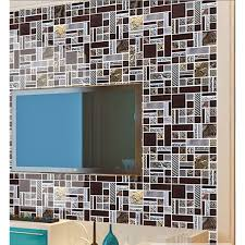 brown mosaic tile crystal glass tile 304 stainless steel tile