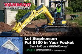 YANMAR $100 OFF Rental   Stephenson Equipment Enterprise Car Sales Used Cars Trucks Suvs For Sale Shred Bin Rental Office Paper Shredding Proshred Tampa Bay Syracuse Ny Jjkane Auction Autos Freightliner Van Box In New York For State Wide Locations Tracey Road Equipment Inc Kubal Coffee Truck Ny Food Roaming Hunger 2011 Ingersollrand P185 Air Compressor Cstruction Empire Crane Company Becomes First Magni Authorized Dealer In The 2014 Gmc Savana On Buyllsearch Uhaul Neighborhood East 2007 Cat Tl943 Tehandler