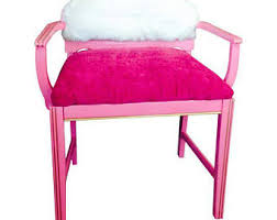 fur vanity stool etsy