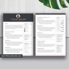 Professional Editable Resume Template 2019, Graduate CV, Simple Resume  Template Word, Best Resume, Cover Letter, Reference, Instant Download:  Tiffany