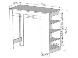 table bar cuisine conforama table bar 115 x 50 cm rangement coloris blanc vente de table
