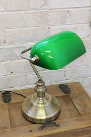 Bankers Table Lamp Green by Bankers Lamp With Green Shade In Antique Brass Vintage Task