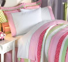 Best Pink Green And White Teenage Bedding Set Queen forter Set