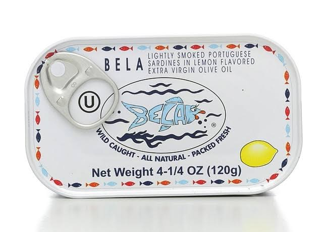 Bela Lightly Smoked Sardine - Lemon Flavoured, 4.25oz