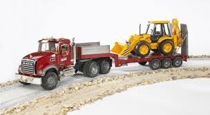Bruder Mack Granite Flatbed Truck With JCB Loader Backhoe, Die ... Amazoncom Bruder Mack Granite Halfpipe Dump Truck Toys Games Toy Trucks For Kids Australia Galaxy Tipping Container Mack Images Man Tgs Cstruction Educational Planet Ebay Trains Vehicles 150 First Gear And Tagalong Trailer Bruder Matt Juliette 2823 Youtube Missing Bed