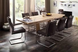 esstischgruppe augsburg 180 cm eiche massiv und 8 stühle braun