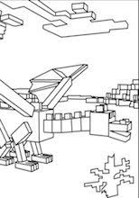 A Minecraft Ender Dragon Coloring Page
