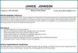 6 Sample Profile Statement For Resume