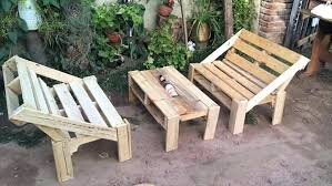 Pallet Patio Lawn Furniture Wooden Set Outdoor For Sale Diy