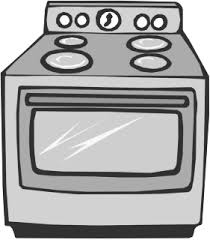 oven clipart black and white 3