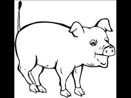 Simple Farm Animal Coloring Pages