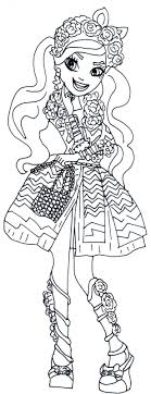 Kitty Cheshire Spring Unsprung Ever After High Coloring Page
