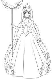 Anime Mermaid Coloring Pages
