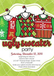 Printable Ugly Christmas Sweater Invitation Template