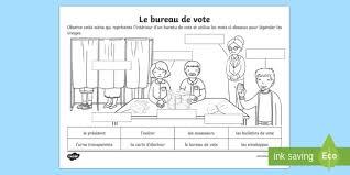 bureau de vote feuille d activités le bureau de vote les élections