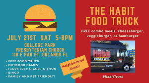 100 Orlando Food Truck Bazaar Event At College Park Church With Free Food To All Comers