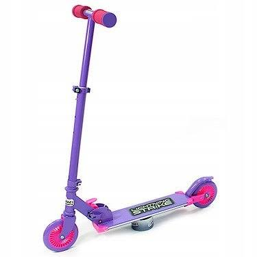 Ozbozz Lightning 2 Wheel Folding Scooter - Purple and Pink