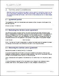 Standard Agreement Terms And Conditions Template Payment Free Contract Templates