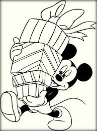 Christmas Mickey Mouse Coloring Sheets