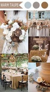 Table Decor Rustic Neutral Fall Wedding Colors For 2016