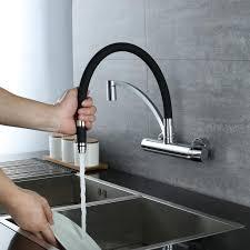küchenarmatur wandarmatur 180 drehbar wasserhahn küche messing spültischarmatur für küche armatur mit brause küchespültischbatterie einfache montage